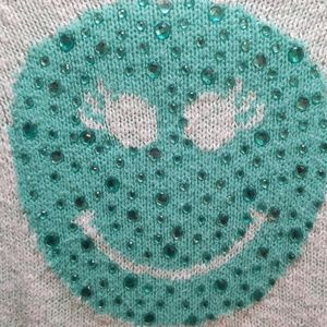 Justice Shirts & Tops - Justice girls smiley sweater